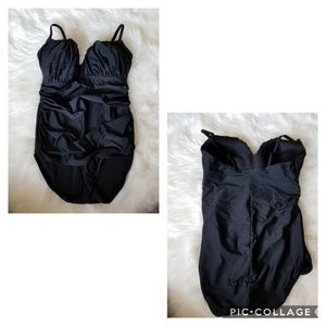 CUTE! One Piece Swim Suit in Black